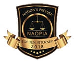 Nation's Premier Top Ten Attorney 2018 NAOPIA