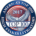 America's Top 100 High Stakes Litigators Logo